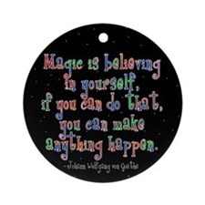 Magic Believe Ornament (Round)