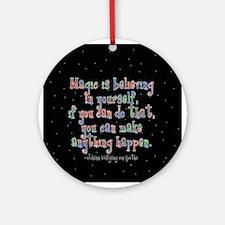 Magic Believe Ornament (Round)