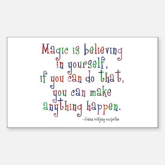 Magic Believe Sticker (Rectangle)