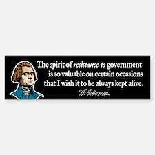 Jefferson Resistance Quote Bumper Bumper Sticker