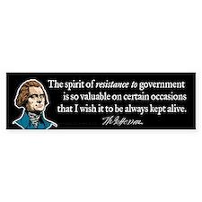 Jefferson Resistance Quote Bumper Sticker