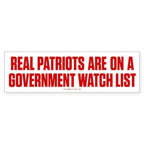 Real Patriots Sticker (Bumper)