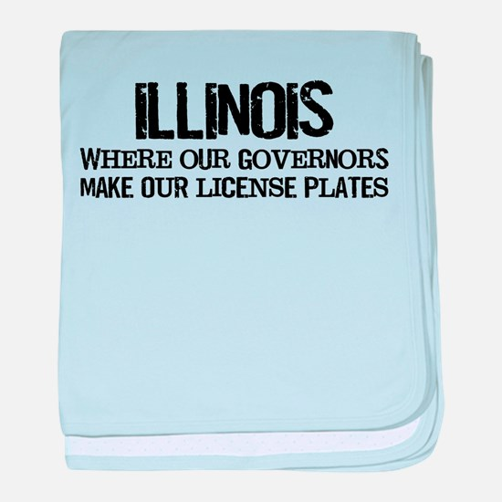 Illinois Governor baby blanket