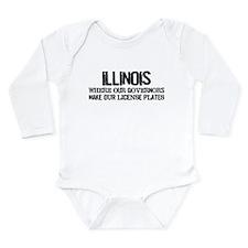 Illinois Governor Long Sleeve Infant Bodysuit