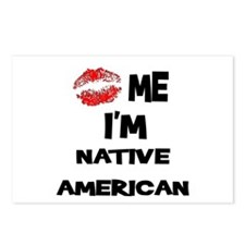 Kiss Me I'm Native American Postcards (Package of
