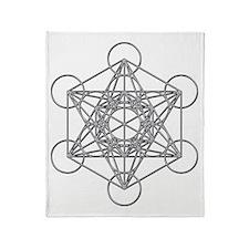 Metatrons Cube Throw Blanket