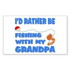 Rather Be Fishing With Grandp Decal