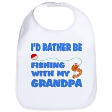 Rather Be Fishing With Grandp Bib