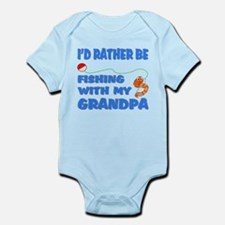 Rather Be Fishing With Grandp Onesie