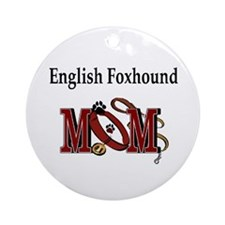 English Foxhound Mom Ornament (Round)