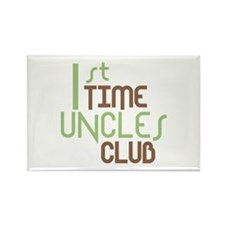 1st Time Uncles Club (Green) Rectangle Magnet