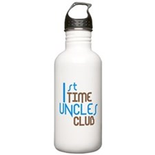 1st Time Uncles Club (Blue) Sports Water Bottle