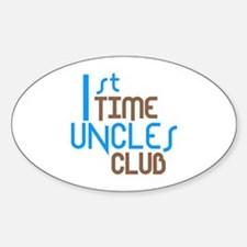1st Time Uncles Club (Blue) Decal