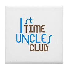 1st Time Uncles Club (Blue) Tile Coaster