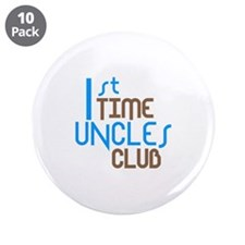 """1st Time Uncles Club (Blue) 3.5"""" Button (10 pack)"""