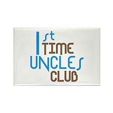 1st Time Uncles Club (Blue) Rectangle Magnet