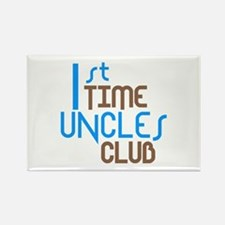 1st Time Uncles Club (Blue) Rectangle Magnet