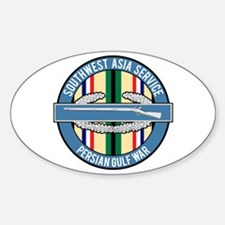 SWA Persian Gulf War CIB Sticker (Oval)