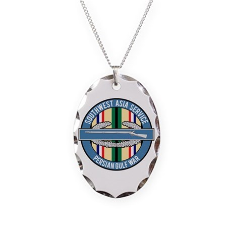 SWA Persian Gulf War CIB Necklace Oval Charm