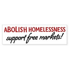 Abolish Homelessness Bumper Sticker