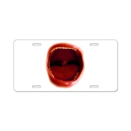 RED red Aluminum License Plate