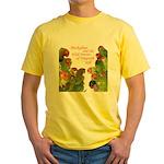 Wild Parrots Yellow T-Shirt