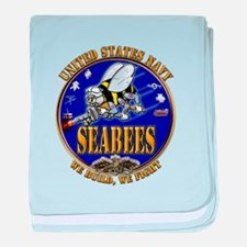 USN Navy Seabees We Build We baby blanket