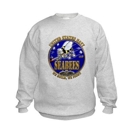 USN Navy Seabees We Build We Kids Sweatshirt