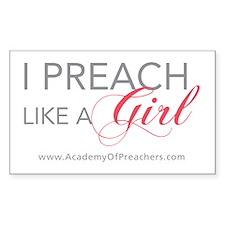 I Preach like a Girl (Sticker)