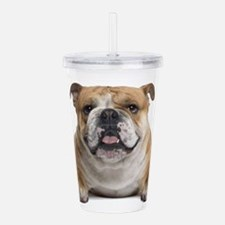 Cute English bulldog Acrylic Double-wall Tumbler