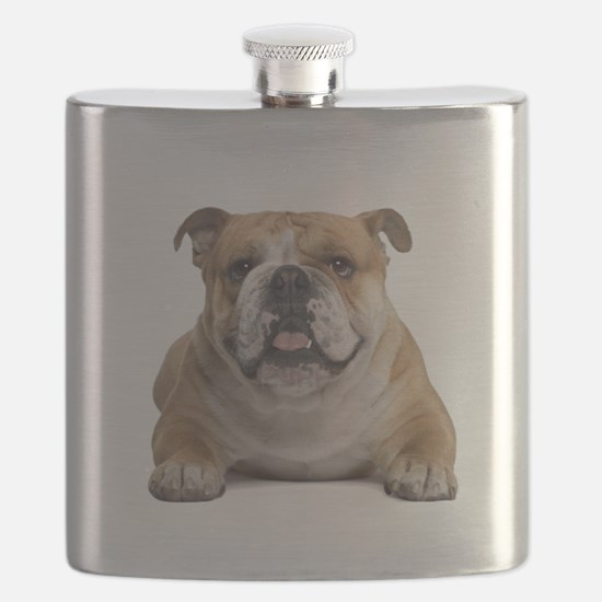 Cute English bulldog Flask