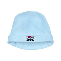 I Love My Dog baby hat
