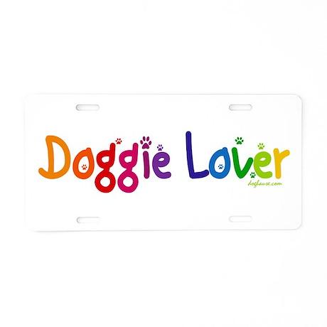 Doggie Lover Aluminum License Plate