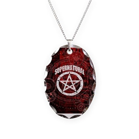 Supernatural Necklace Oval Charm
