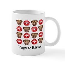 Pugs and Kisses Small Mugs