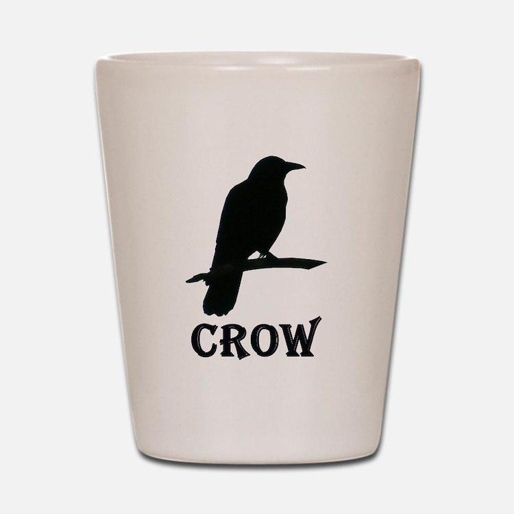 Black Crow Shot Glass