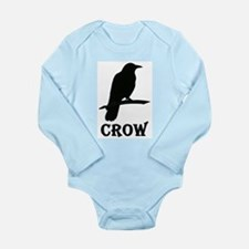 Black Crow Long Sleeve Infant Bodysuit