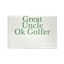 Great Uncle Ok Golfer Rectangle Magnet