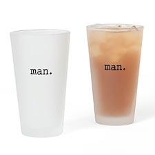 man. Pint Glass