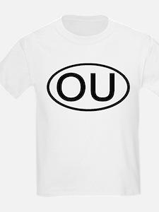 OU - Initial Oval Kids T-Shirt