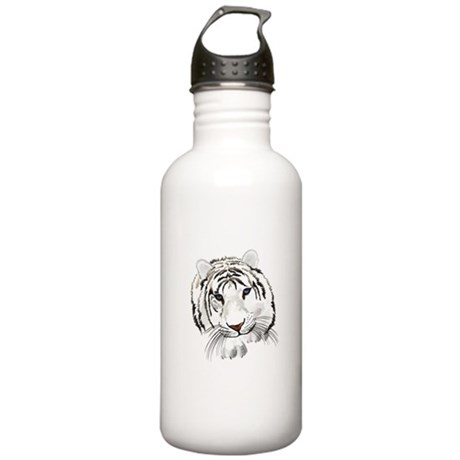 White Bengal Tiger Stainless Water Bottle 1.0L