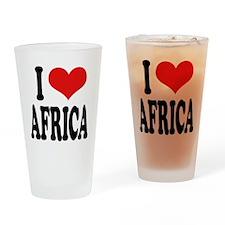 I Love Africa Pint Glass