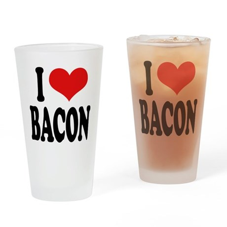 I Love Bacon Pint Glass