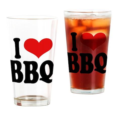 I Love BBQ Pint Glass