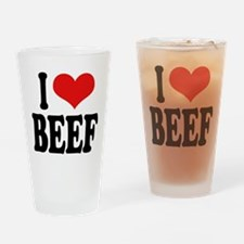 I Love Beef Pint Glass