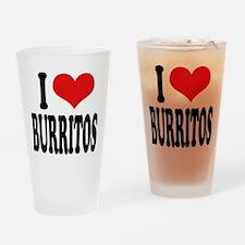 I Love Burritos Pint Glass