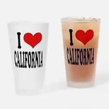 I Love California Pint Glass
