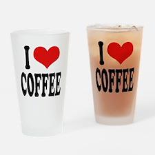 I Love Coffee Pint Glass