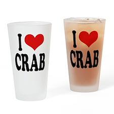 I Love Crab Pint Glass
