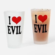 I Love Evil Pint Glass